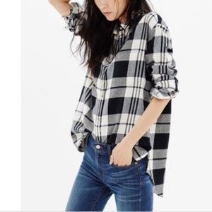Madewell Oversized Flannel in Lamont Plaid XXS